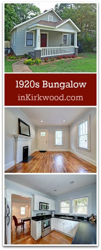 Super charming 1920s Craftsman Bungalow Home for Sale in Kirkwood Atlanta.