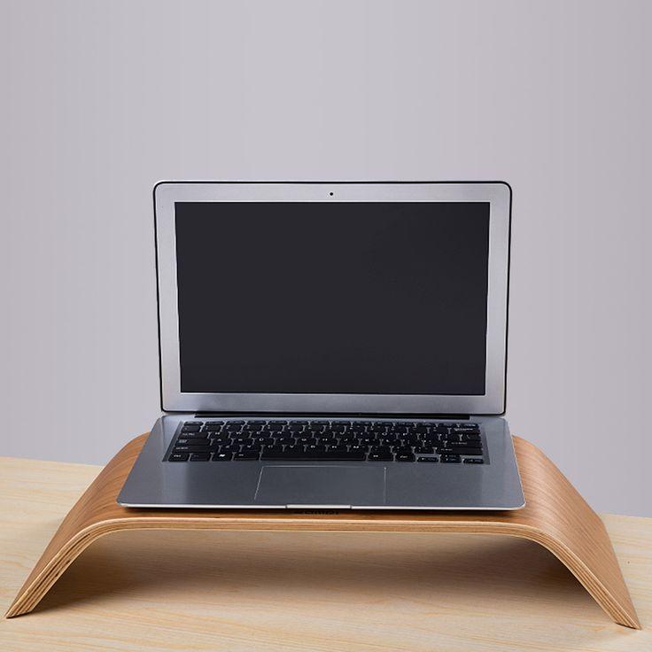 US DE STOCK Desktop Computer Monitor Heighten Wooden Stand Dock Holder Display Bracket Black Walnut for iMac PC Notebook Laptop