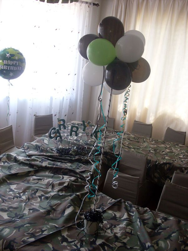 17 best images about alex graduation party decor on for Army party decoration
