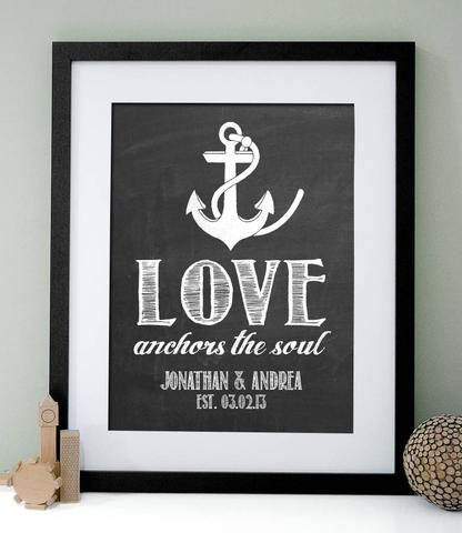 Love Anchors the Soul Print