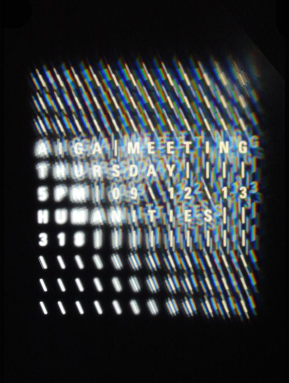 AIGA Meeting Poster | EXPERIMENTAL TYPOGRAPHY