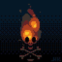 Mister _Hk_ , Alexis Morille Fire skull for #pixel_dailies