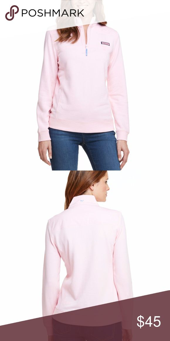 """Vineyard Vines Shep Shirt Sweater EUC First photo has a black mark but it's just my camera! STYLE# 2K0564 Fabrics:  · 100% cotton-French terry  Features: · 1/4-zip long-sleeve pullover · Contrast whale grosgrain pull at center front · Signature label on chest · Embroidered whale on back neck · Increased body width and body length about 1"""" for a roomier, relaxed fit  · Reduced shoulder width for a feminine, flattering fit · Imported Vineyard Vines Sweaters"""