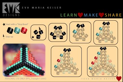 triangle with delicas ~ Seed Bead Tutorials