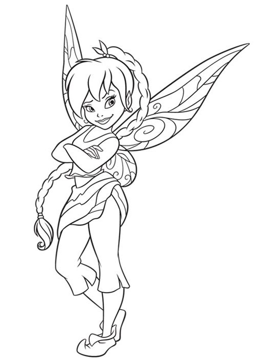 tinkerbell fawn sabrina coloring pages - photo#19