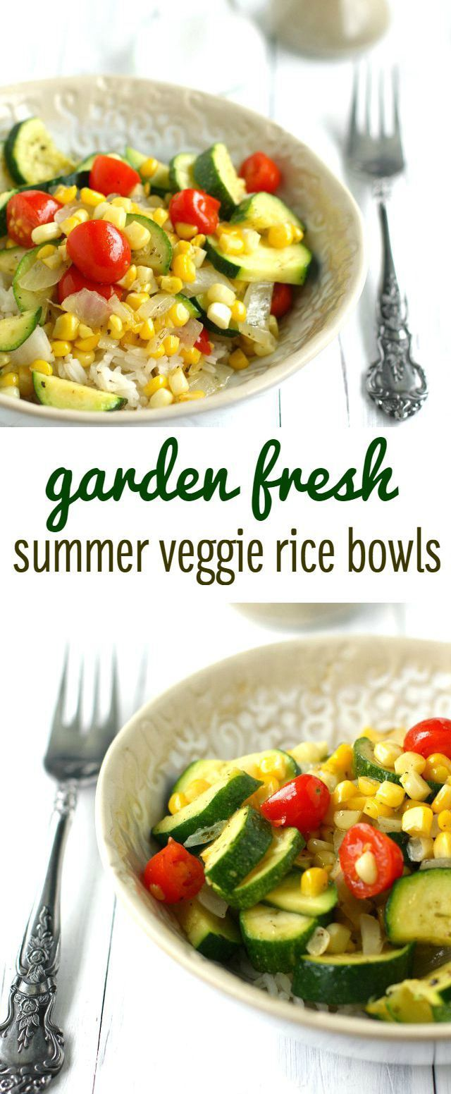 Simple and fresh corn and zucchini rice bowls are an easy summer meal! #vegan #glutenfree #plantbased