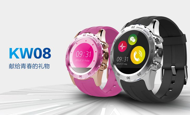 kw08 Smart Watch Clock With Sim Card Slot Push Message Bluetooth Connectivity Android Phone Better Than DZ09 GT08 Smartwatch