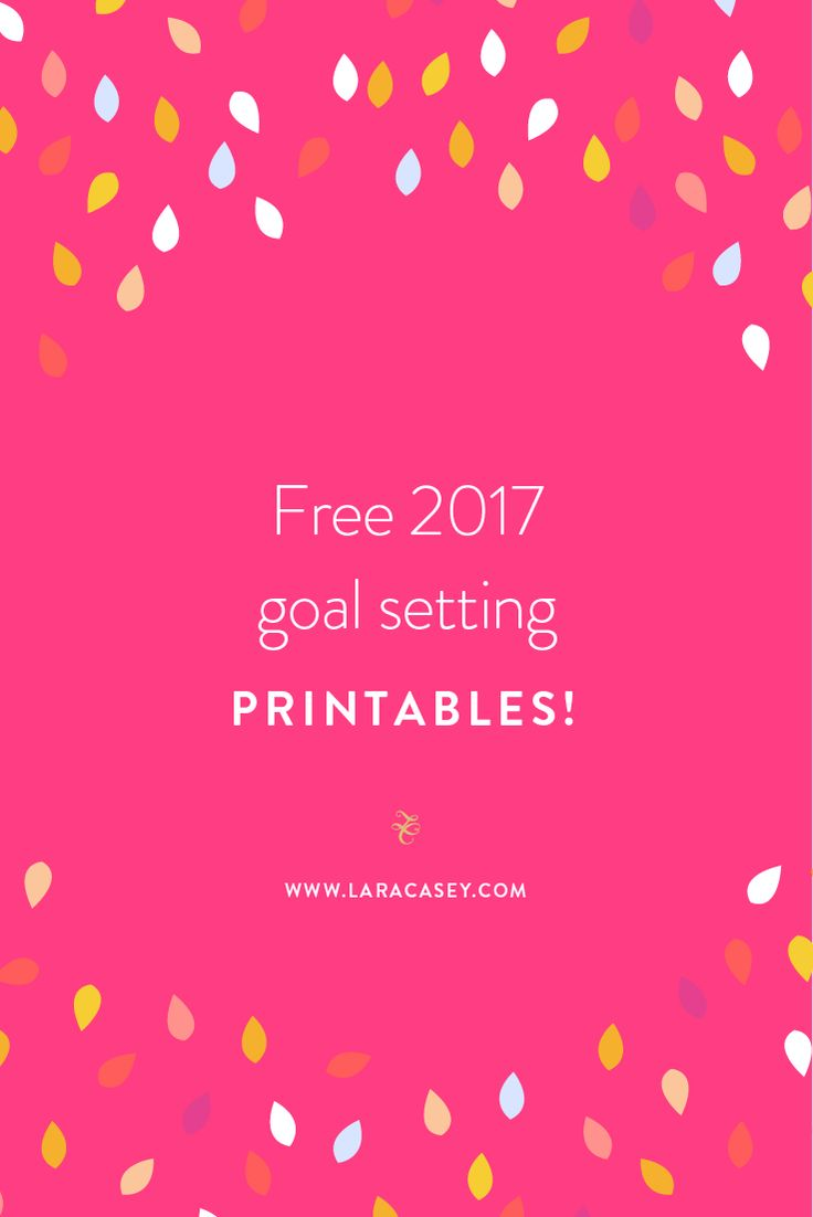 Free printables for 2017 Goal Setting from Lara Casey, creator of the PowerSheets!