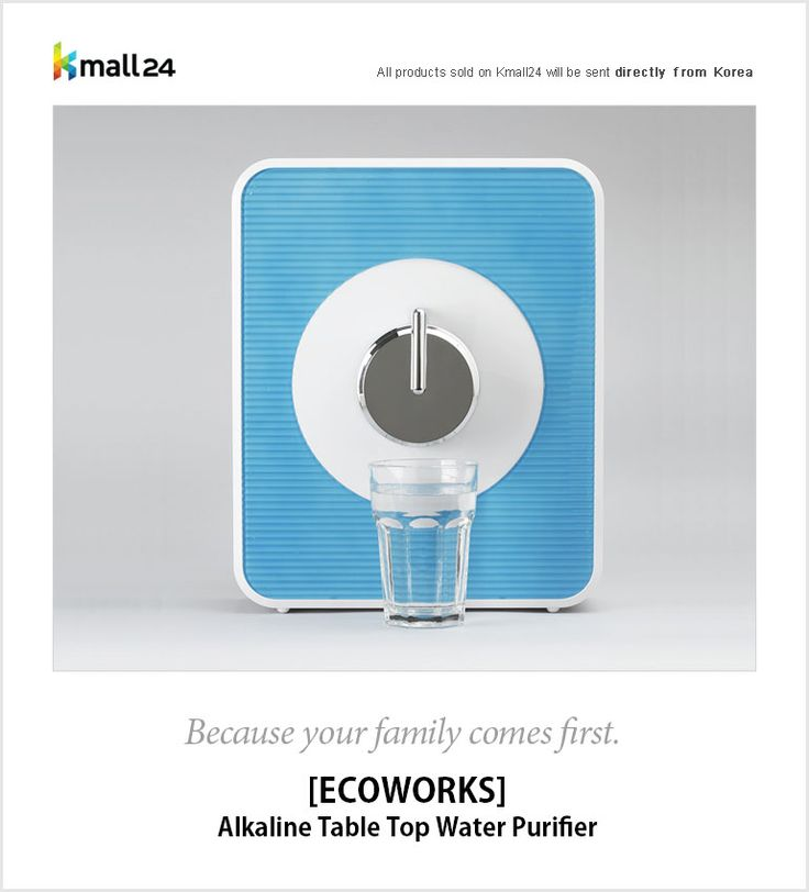 Alkaline Table Top Water Purifier.  Stylish. Compact. Safe.  Because your family comes first.  ▶ Shop here : http://bit.ly/1E92LFv Kmall24 ‪#‎waterpurifier‬ ‪#‎ecoworks‬ ‪#‎alkalinewater‬ ‪#‎safewater‬