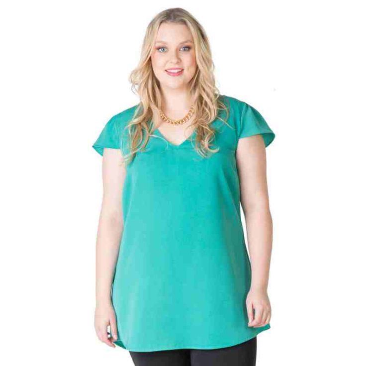 PRE-ORDER - Caped Sleeve Tunic (IVY) $59.95 http://www.curvyclothing.com.au/index.php?route=product/product&path=95_104&product_id=6743