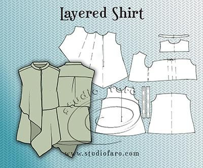 Pattern Puzzle - Layered Shirt