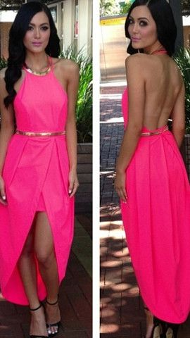 Cleo Dress - Hot Pink party wear on sale at Billy J boutique
