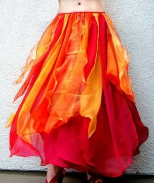 Fire Dance Costumes | 40Belly Dance Costume Skirt Red Orange Fire Color, Size M New in West ...