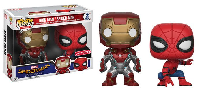 Spider-Man Homecoming: Iron Man and Spider-Man 2 pack Pop set by Funko, Target exclusive