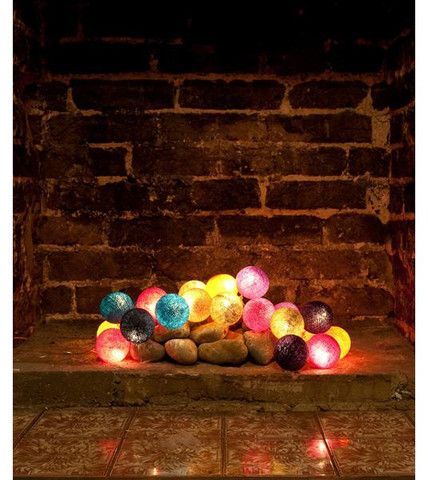 coloured fairy lights