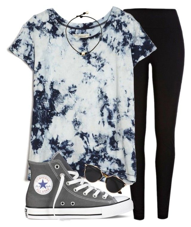 """like who's that chick that's rocking kicks?"" by madiweeksss ❤ liked on Polyvore featuring River Island, Current/Elliott, Converse and Christian Dior"