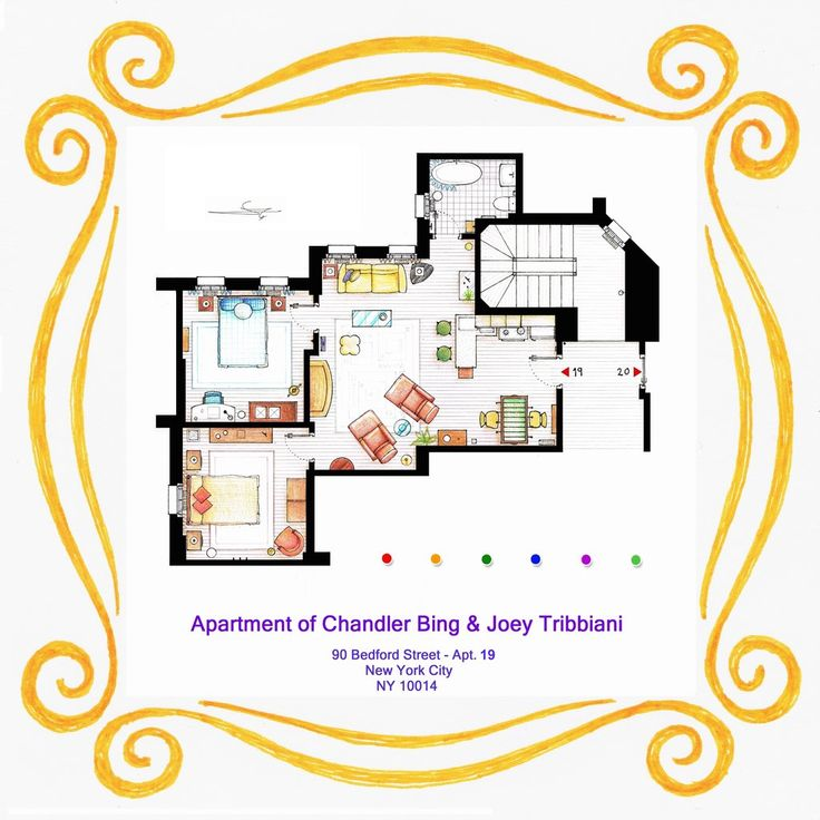 Apartment of Chandler and Joey from FRIENDS by nikneuk.deviantart.com on @deviantART