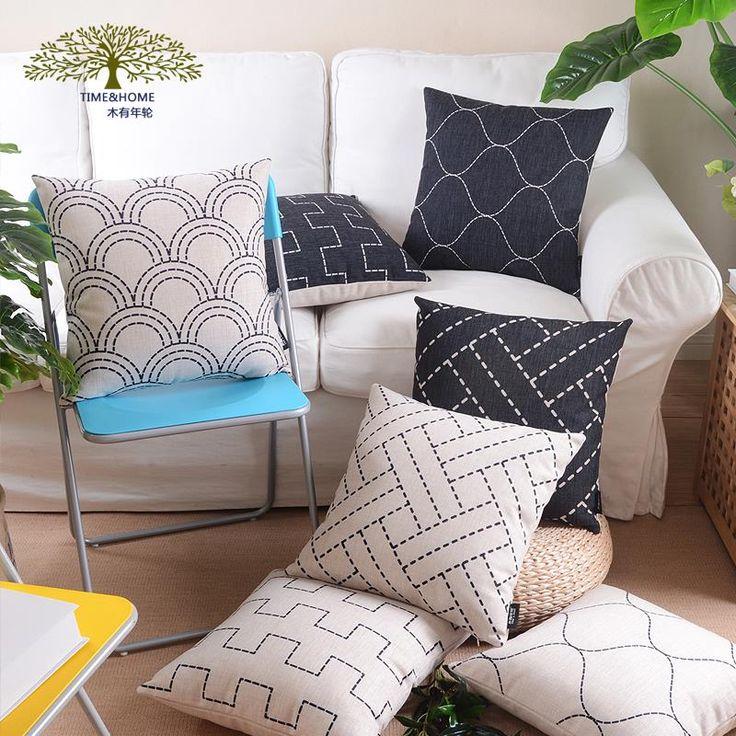 Aliexpress.com: Compre Madeira surpreendentemente fluido travesseiro almofada preto e branco nórdico breve grosso sofá sofá almofada lombar de confiança travesseiro banho fornecedores em NAPEARL official store