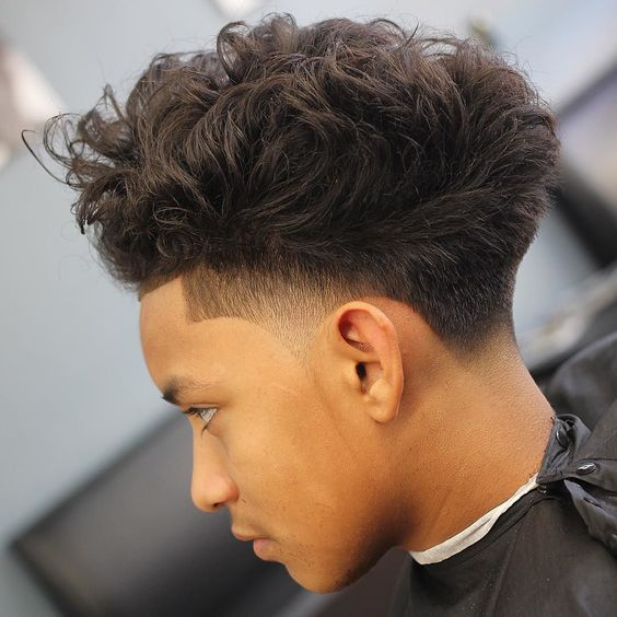 how to get a curly hair blowout men