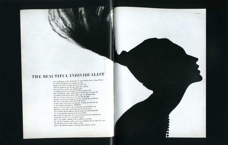 Magazine layout using negative space. -Alexey Brodovitch