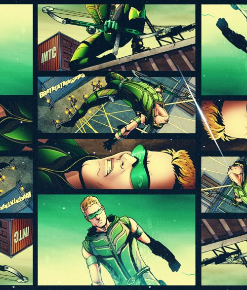 Green Arrow from Smallville Comic Panel