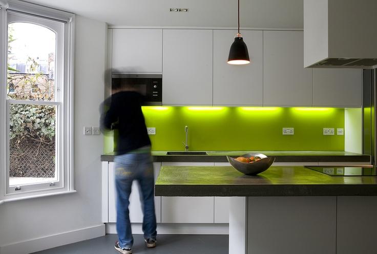 Threefold Architects, London - neon backsplash