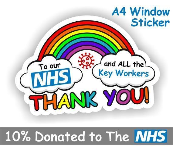 Nhs Rainbow Window Nhs Car Bumper Stickers Window Stickers
