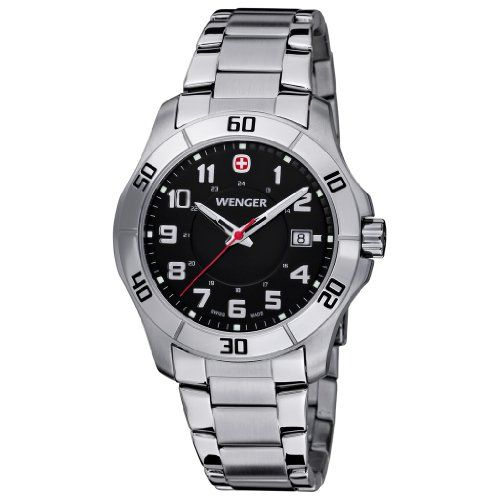 #wengerwatches Men's Wenger 70487 Alpine Watch with Stainless Steel Band Check https://www.carrywatches.com