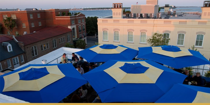Roof top bar at the Vendue Inn. Lots of fun and awesome view
