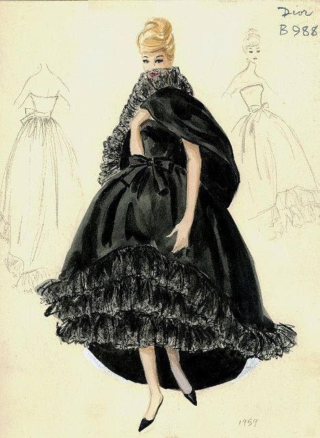 17 best images about dior sketches on pinterest fashion