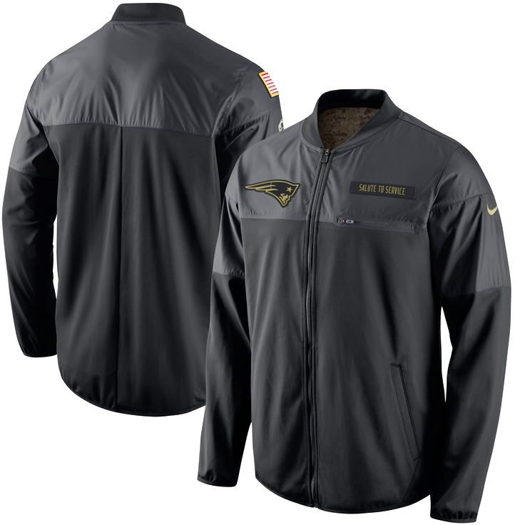 New England Patriots Nike Salute to Service Hybrid Performance Jacket - Black - $99.99