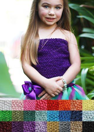 Crochet Headbands |  Large Crochet Tutu Top with Lining