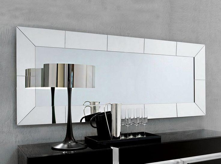 Regal Modern Rectangular Wall Mirror by Cattelan Italia - $950.00