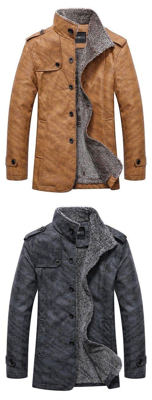 Stand Collar Single-Breasted Epaulet Embellished Jacket