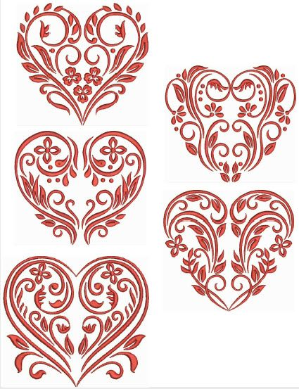 Red Damask Damask-Red-Hearts