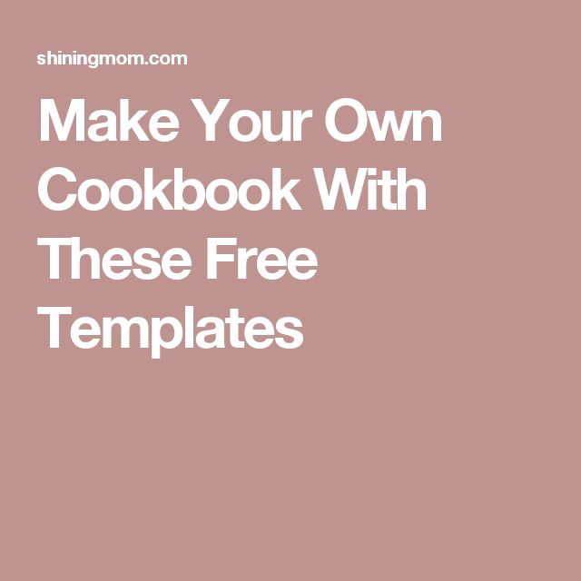 17 Best ideas about Make Your Own Cookbook on Pinterest   Cookbook ...