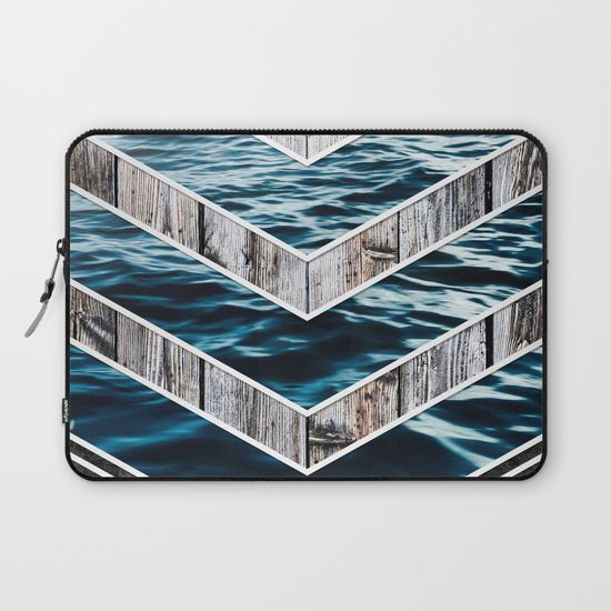 Striped Materials of Nature III Laptop Sleeve #wood #wooden #marble #stone #sea #ocean #stripe #stripes #striped #nature #texture #laptop #sleeve