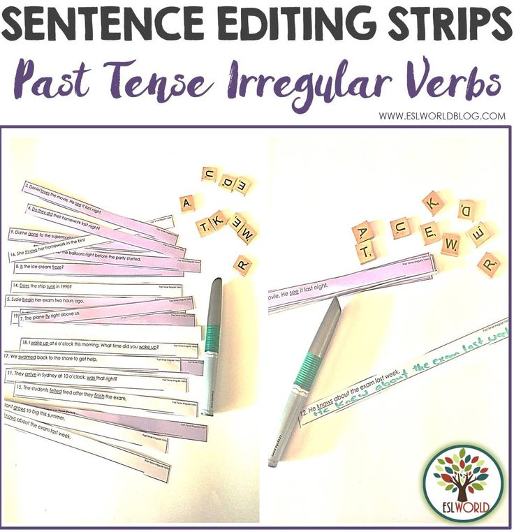irregular verbs flashcards pdf free