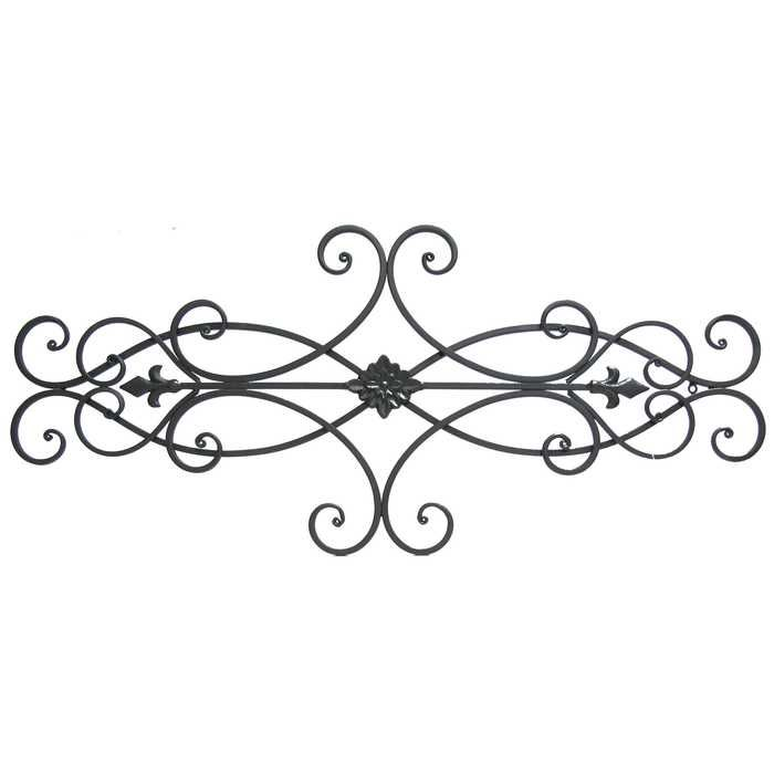 Brown Scroll Metal Wall Decor With Fl Center