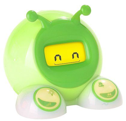 "Onaroo OK to Wake! Alarm Clock and Night-Light - let your kids know when it's okay to wake their parents. You decide what time the ""green means go!"" light turns on in the morning. Get some extra shut-eye!"