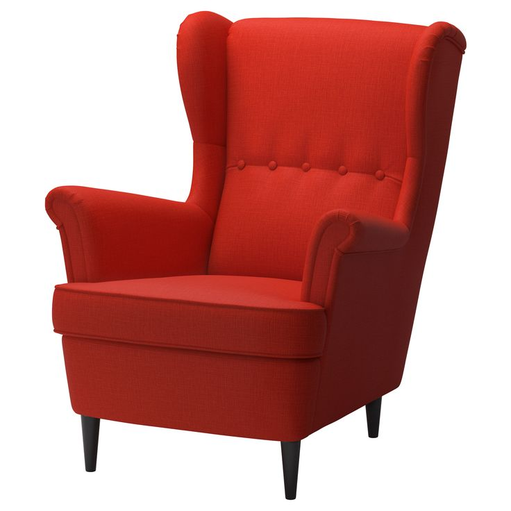 strandmon wing chair skiftebo orange ikea for the home pinterest gartendesign. Black Bedroom Furniture Sets. Home Design Ideas