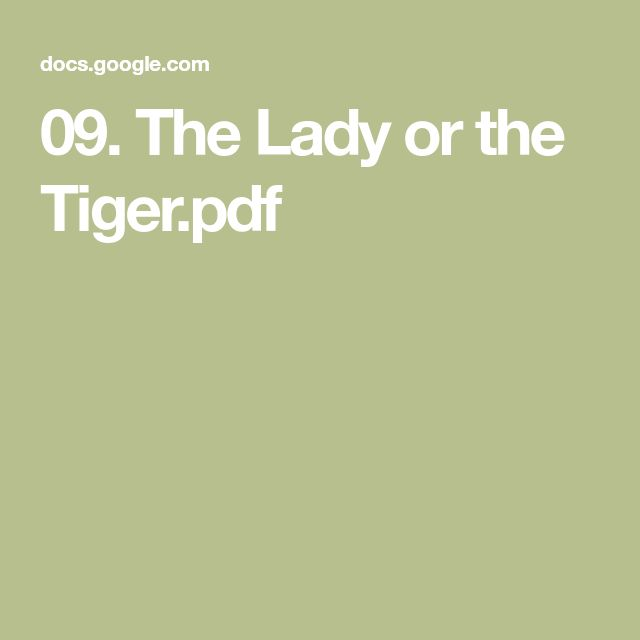 09. The Lady or the Tiger.pdf