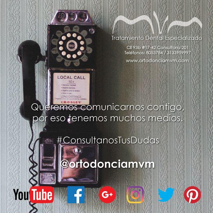 Hemos diseñado la forma de llegar a tí para resolver tus dudas. Escríbenos. #ConsultanosTusDudas  #FelizMartes  www.ortodonciamvm.com  Consultas: 8053784 - 6363236  Móvil 313 395 99 97  WhatsApp 321 4595296  #OdontologiaBogota #Ortodoncia #Odontologia #SaludOral #ClinicaOdontologica #Belleza #Braquets #Blanqueamiento #DiseñoDeSonrisa #Martes #Sonrie #Orthodontics #Braces #DentalCare #OralHealth #DentalHealth #Health #OralHealthColombia #F4f #Follow4follow #l4l #Like4Like