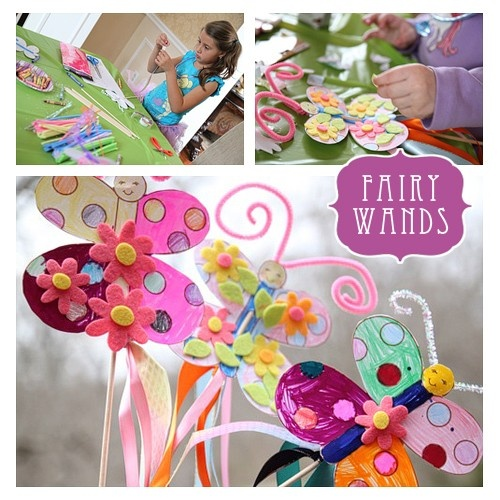 fairy wands - good idea for girls princess party