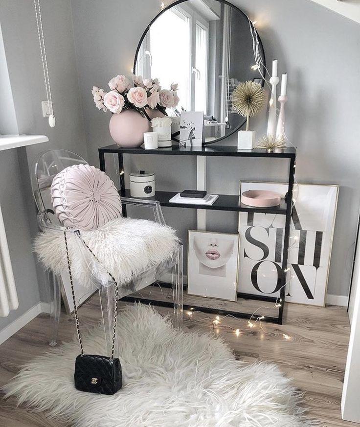 Pink Glam Room Room Decor Cute Room Decor Beauty Room