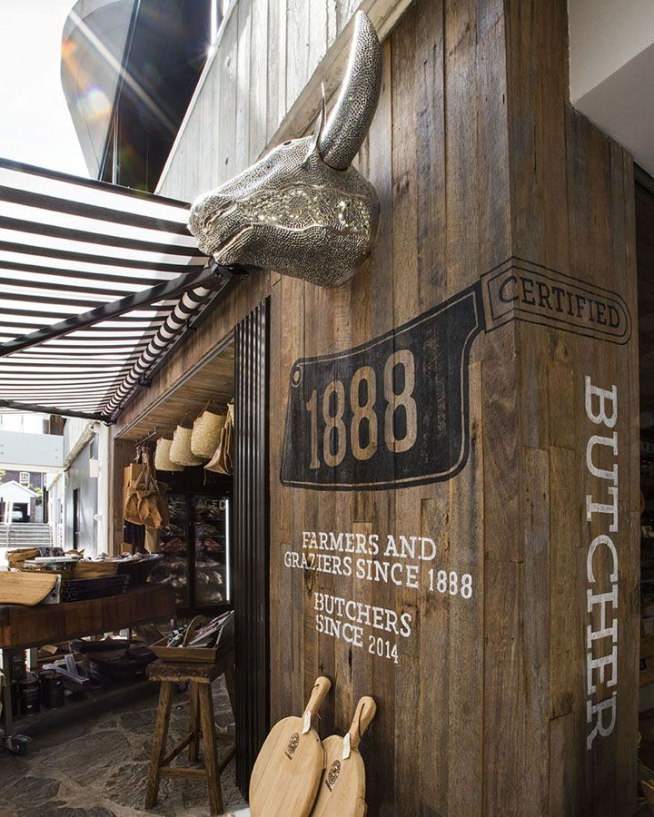 "1888 Certified is a gourmet butcher and homewares store located in the sunny suburb of Bondi Beach, Sydney.  Timber chopping boards, woven bags, aprons and cowhide wallets sit along side various cuts of meats and ready to go meals. The concept of the store is about bringing ""field to fork"" with a complete head to tail approach."