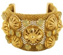 #Shopping #Bargain #Deals Beatrice Italian-Made Gold Finished Brass Bracelet with Medley of Sand Opal Crystals  Price:$186.55 & eligible for #FREEShipping
