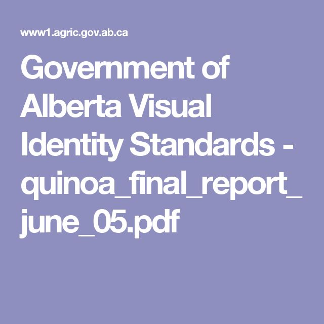 Government of Alberta Visual Identity Standards - quinoa_final_report_june_05.pdf
