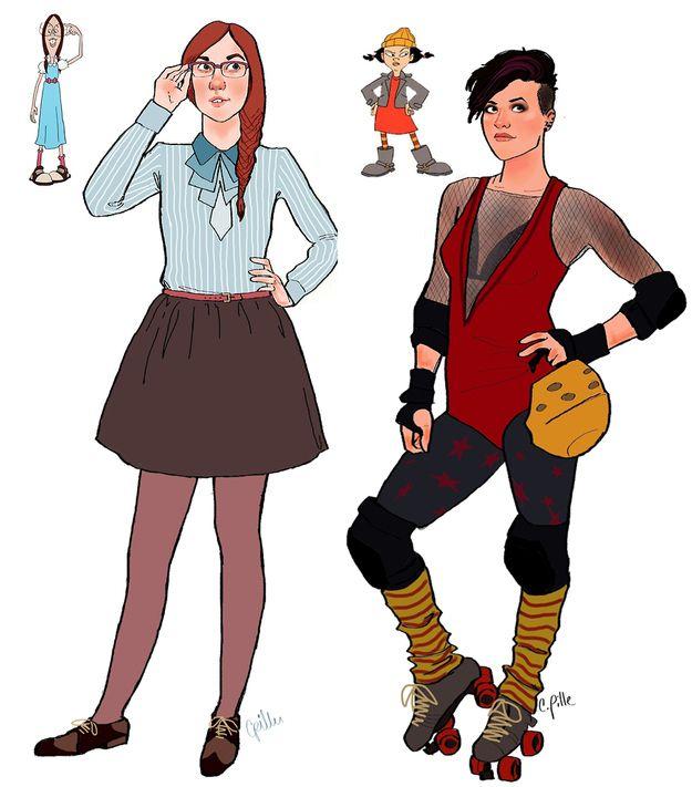 Eles cresceram! Personagens de desenhos animados desenhados como adultos | ROCK'N TECH