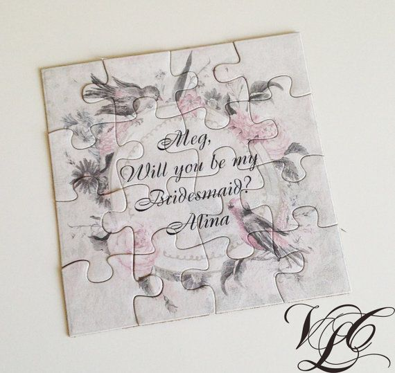 Personalized Bridesmaid / Flower girl proposal by VintageChicLace